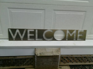 Lazer Cut Welcome Sign