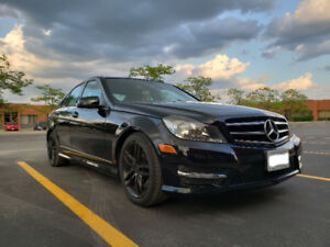 2014 Black Mercedez-Benz C300 Sedan