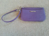 Calvin Klein Saffiano leather coin wallet