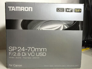 Tamron SP AF 24-70mm f/2.8 Di VC USD Zoom Lens for Canon