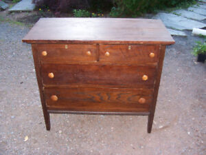 Antique Oak Dresser  38 by 18 and 33 Tall