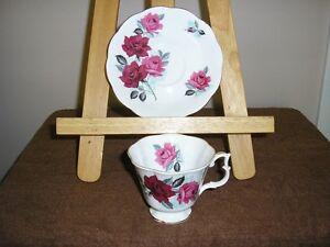 Royal Albert Tea cup & Saucer-Pink & Red roses