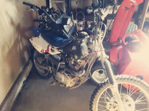 Dirt bike and vintage snowmobile no trades