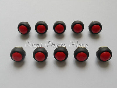 10pcs Red 12mm Waterproof Momentary Onoff Push Button Mini Round Switch M172