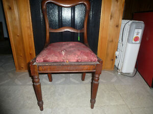 ANTIQUE MAHOGANY SIDE CHAIR-NEEDS TO BE RE-UPHOLSTERED-NEW PRICE Kingston Kingston Area image 1