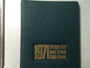 1971 Dodge dealership data books Strathcona County Edmonton Area image 1