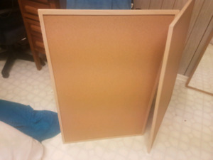 2 Corkboards and pins