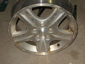 2 aluminum rims 16in. x 6in  great for winter snows.