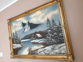 Vintage beautiful oil painting in used condition.Can deliver or post!