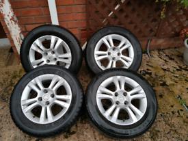 Corsa D alloy wheels
