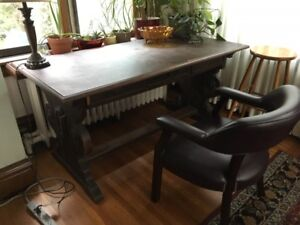 GORGEOUS TRUE ANTIQUE SPANISH TABLE AND CHAIRS
