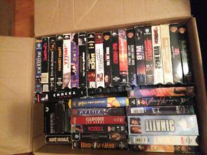 Huge lot of VHS Movies For Sale!!!