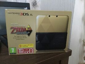 Zelda limited edition 'A Link Between Worlds' 3ds xl console