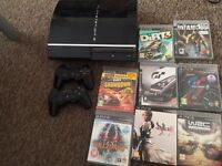 Ps3 300gb+2 controlers wireless