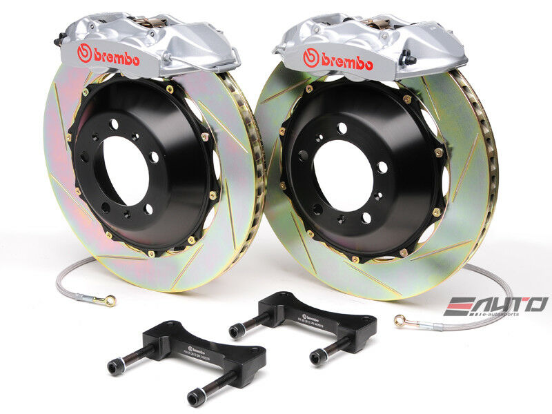 Brembo Rear Gt Bbk Big Brake Kit 4piston Silver 345x28 Slot Disc Bmw F30 328i