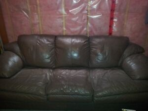 Leather couch and the love seat / brown