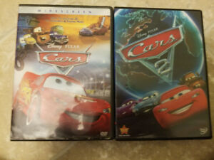 Cars and Cars 2 DVD.