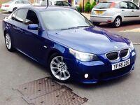 BMW 530D 56 REG M SPORT LE MANS BLUE TOP SPEC NOT AUDI LEXUS RANGE ROVER X5 M3 PX OR SWAP