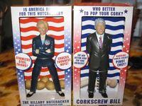 Corkscrew Bill and Hillary Nutcracker