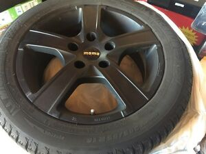 Momo winter rims with Michelin x-Ice winter tires 205/55/16