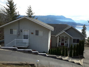 SHUSWAP LAKE VIEW ON NORTH SHORE WITH CARRIAGE HOUSE