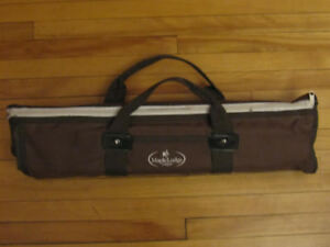 Portable BBQ Set with zippered carrier with handles