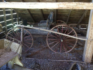 Driving Carriage, Pung Sleigh, Wood cook stove