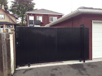 Secure gated parking spot