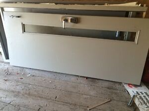 2 commercial office doors with the frames