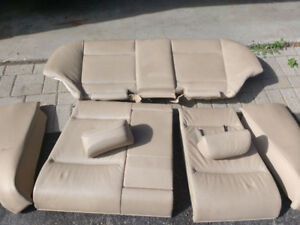 BMW E46 3 Series Tan Leather Rear Folding Seats with Headrests