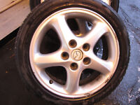 195/50 R16 84T  X 2   RIMS FOR MAZDA WITH TIRES