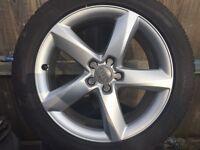 Audi A8 A6 s line 19 alloys winter tyres 5x112 Vw T4
