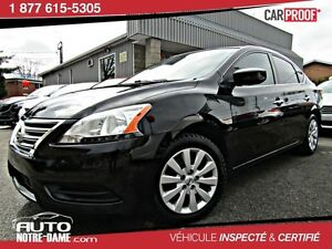 Nissan Sentra 4dr Sdn S Air ** NOUVEL ARRIVAGE **  2013