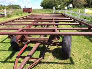 Round Hay Bale Wagons