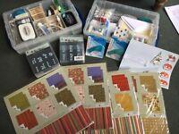 BIG JOB LOT arts, crafting, scrap booking, stationary, books, stickers, glitter, card making etc