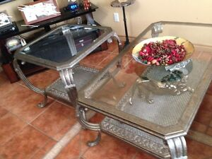 Tables de salon/Tables fer Forge/wrought iron - LIKE NEW