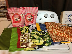 Entire kit for cloth diapering kit - many assorted colours and s