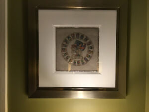 Framed picture of Mayan calendar