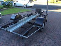 Progfessional heavy duty motorbike trailer