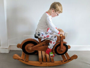 "Unique Wooden hand-made ""Harley-Davidson"" Rocking horse"