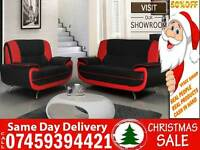 50% OFF BRAND NEW 3 AND 2 SEATER LEATHER SOFA SUITE