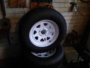 4 NEW TRAILER TIRE AND RIMS