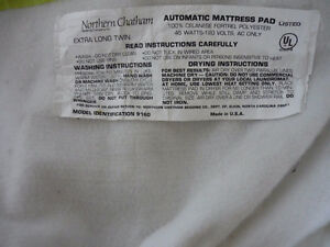 Electric Mattress Pad  (Great for Cold Bed ,sore muscles ,aches)