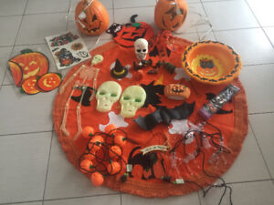 Halloween decorations and costumes