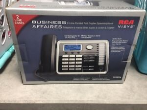RCA corded phone with 2 line