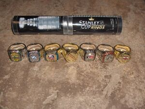 MOLSON CANADIAN STANLEY CUP RING DISPLAY CASE with rings Cambridge Kitchener Area image 3