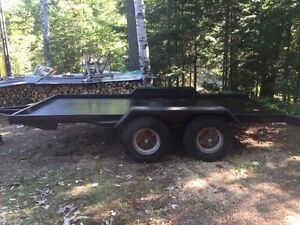 Homemade Flat Bed Tandem Axle Trailer
