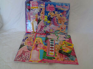 8 Item Barbie Activity,Paint, and Colouring Lot