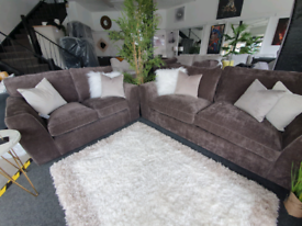 SALE!!! NEW Rio Deep Taupe Brown 3 + 2 Seater Sofa DELIVERY AVAILABLE