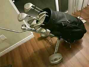 Golf clubs with Bag and Portable Cart